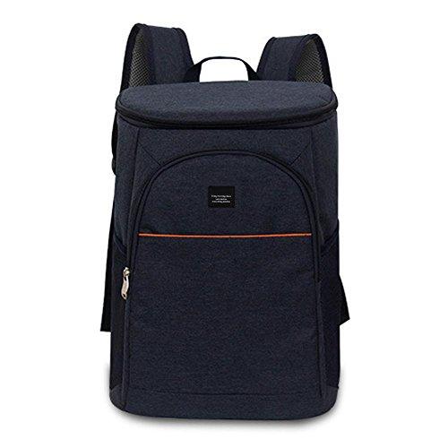 Hutiee Backpack Zaino Termica a Ghiaccio Pack di Vino Rosso Grande capacità Blu Scuro