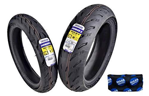Michelin Pilot Power 5 Radial Sport Bike Motorcycle Tire 120/70-17 190/55-17 (120/70ZR17 Front 190/55ZR17 Rear)