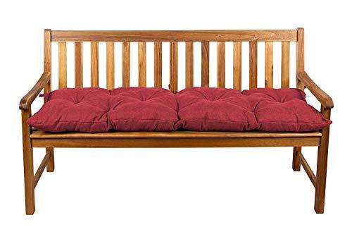 Coussins pour banc, coussins pour balançoire de jardin, siège LS (100x50, Rouge 9)