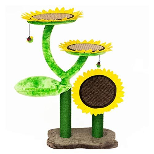 Jfsmgs Katzenklettergerüst Sonnenblume Katze Kletterrahmen Katze Nest Katze Baum...