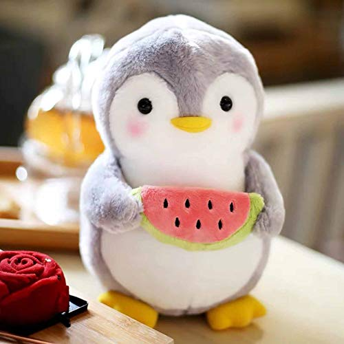 New Cute Warm Penguin Plush Doll Super Soft Filled Anime Bread Plushies Kawaii Office Pillows Stuffed Plush Toy Accompany Baby Sleep Plushie Backrest Pillow Appease Ragdoll Xmas NewYear (9.8inch, D)