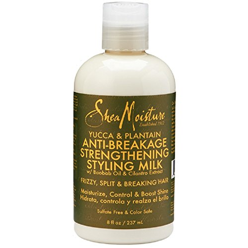 SheaMoisture Styling Milk Heat Protectant for Frizz Yucca & Plantain Heat Protectant with Shea Butter 8 oz