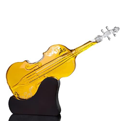 Decanter per Vino Bottiglia di Vino in Vetro a Forma di Violino Decanter Bottiglia di Vino Artigianale di Arte Creativa,
