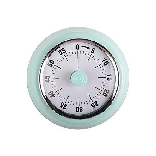 Jayron Kitchen Timer Erinnerung Timer Verwalten 360 Grad rotierender mechanischer Timer Backcountdown Küchenwecker Kühlschrank Magnetisch zum Kochen,Lernen (Grün)
