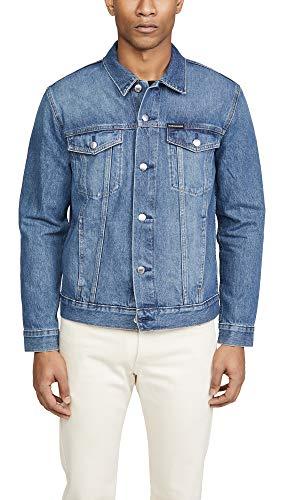 Calvin Klein Men's Denim Trucker Jacket, Pride Blue, 2X-Large