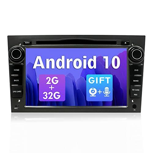 SXAUTO Android 10 Autoradio Compatible Opel Meriva/Corsa/Zafira/Vivaro/Antara - [2G+32G] - Gratis Cámara Canbus - 2 DIN 7 Pulgada - Soporte Dab 4G WLAN BT5.0 Carplay Volante Android Auto Mirrorlink