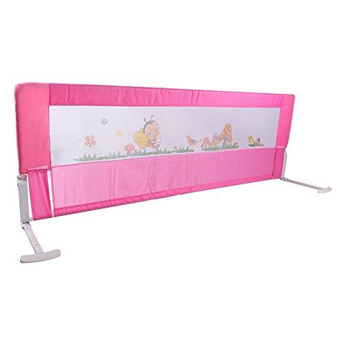 Bettgitter, Sicherheitsgitter zur Anbringung am Elternbett, faltbar, in verschiedenen Farben und Größen, rose, 18 cm