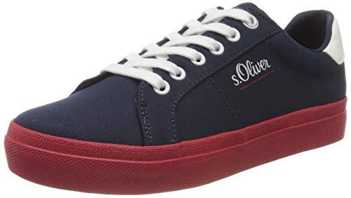 s.Oliver Damen 5-5-23621-24 Sneaker, Blau (Navy 805), 39