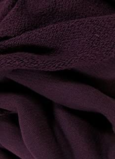 Organic Cotton Heavyweight French Terry Fabric - Plum - By the Yard