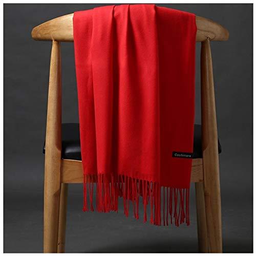 EODUDO-S 200x70cm acrílico Bufanda del Color sólido de la Borla multifunción mantón Bufanda Caliente Viaje Esencial a Prueba de Viento del mantón Ligera (Color : 02, Size :...