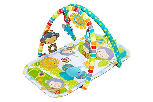 Fisher-Price CLJ42Musik-Äffchen Spielcenter, Krabbeldecke mit zweiSpielbögen, inkl. 6 Spielzeugen, Babyerstausstattung, ab 0 Monaten [Exklusiv bei Amazon]