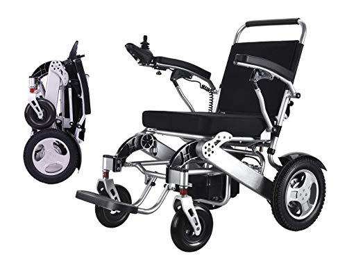 GLXLSBZ Silla de Ruedas eléctrica Plegable Powe Silla Inteligente portátil Ligera Silla de Ruedas para Scooter de Movilidad Personal - Pesa Solo 58 (Regalos para Personas Mayores)