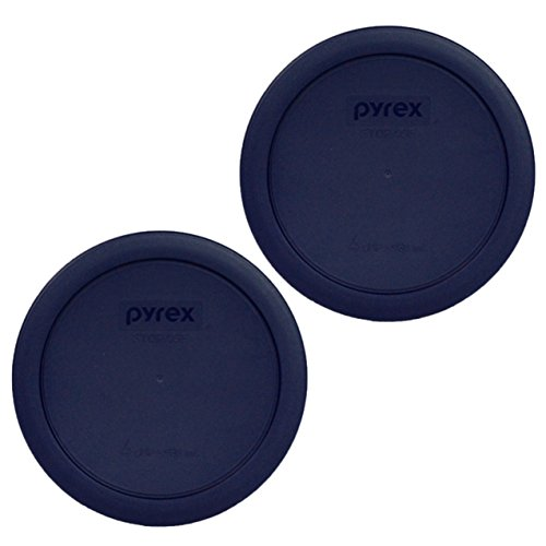 Pyrex 7201-PC 4 Cup Blue Round Plastic Food Storage Lid - 2 Pack
