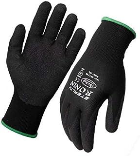 Ronin Stealth Black Nitrile Nylon Glove Large (9) 12 Pack