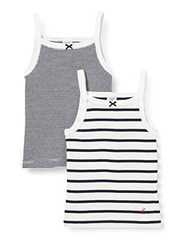 Petit Bateau Camiseta sin Mangas para Niñas