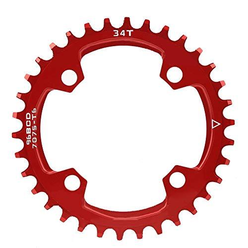 V GEBY Plato para Bici 96BCD, Aleación de Aluminio, Monoplato para Bicicleta de Montaña (34T)