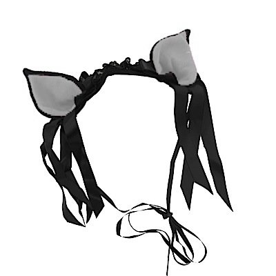 Bye Bye Kitty Bandeau cheveux poin Ted Ears Black/White