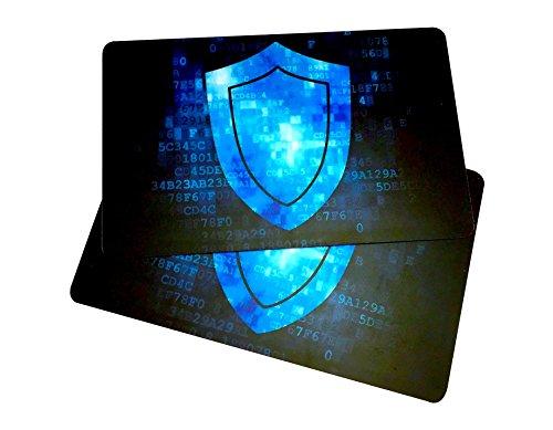 2RFID-blockierender Karten von RMS Unlimited Waren–Die Original Sicherheit. Schützt Brieftasche, während Sie Reisen. KOSTENLOSE E-Bücher auf ID Diebstahl und Reparatur