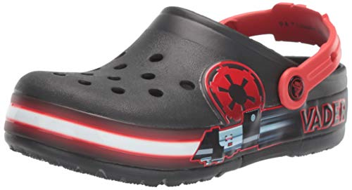 Crocs Unisex-Kinder Fun Lab Darth Vader Lights Clog Holzschuh, Black, 29/30 EU