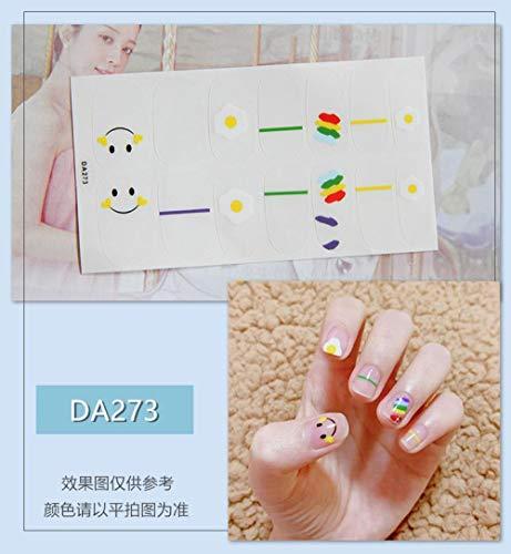 BGPOM Nail Sticker Avocado Full Sticker Strawberry Rainbow Cat Eye Waterproof Nail Polish Sticker 10 Pieces/Set,DA273