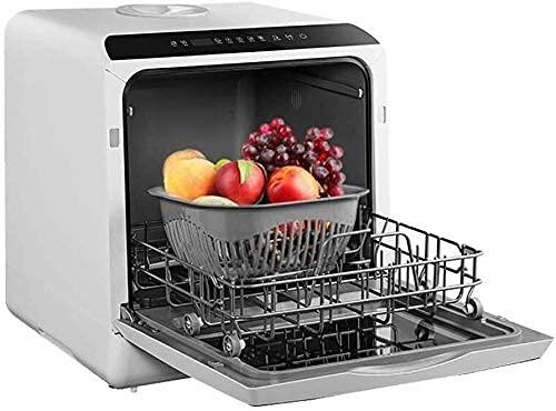Mini Lavavajillas De 5 L, Automático, Doméstico, Independiente, 4 Juegos De Vajilla, Platos para Lavar Frutas Y Verduras