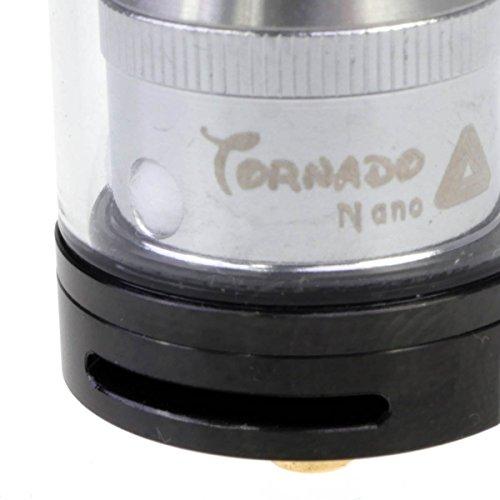 Riccardo Tornado Nano Clearomizer (4 ml, Durchmesser 24 mm, iJoy Verdampfer für e-Zigarette) silber