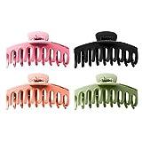 PT-KMKMING 4 unids/set clip para el pelo, de moda, estilo coreano, garra de pelo de gran tamaño, pinza de pelo Updo grande, soporte de cola de caballo abrazadera pasadores accesorios para el cabello