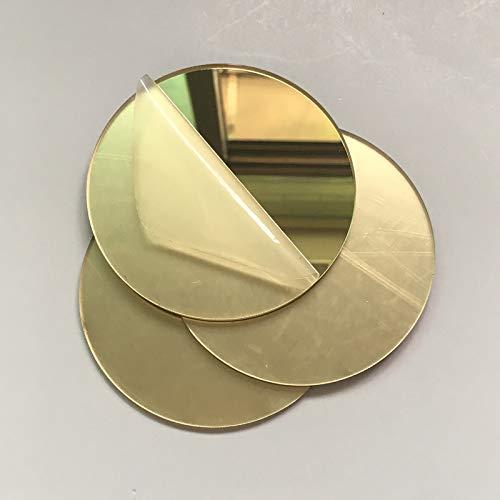 30 specchi quadrati in vetro dorato, per mosaico, per fai da te, 2 cm Oro