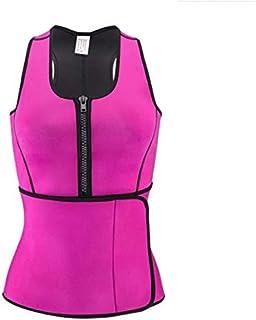 Women Shapewear Adjustable Sweat Belt Corset Neoprene Sauna Vest Body Shaper Slimming Waist Trainer, size L Pink