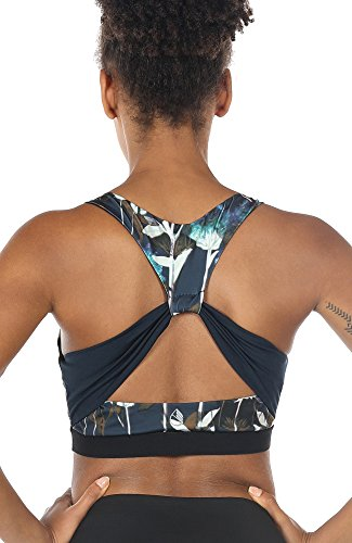 icyzone Workout Sports Bras for Women - Fitness Athletic Exercise Running Bra Yoga Tops (L, Lotus)