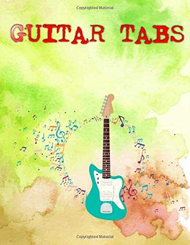 Guitar Tab Method Combo Edition: Shape Of You Guitar Tabs Glossy Cover Design White Paper Sheet Size 8.5x11 Inches ~ Tabs - Journal # Authentic110 Page Fast Prints.