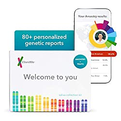 a photo of a 23andMe DNA test box