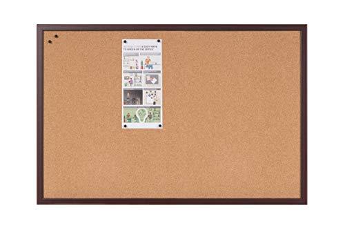 Bi-Office Earth Executive - Tablero de Corcho de Marco de MDF Cereza, 120 x 90 cm