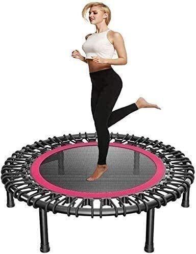 TAIDENG Trampolín plegable para interior plegable para niños pequeño trampolín Fitness Rebounder con lechón diámetro 40 pulgadas 150 kg límite de peso para Chidren