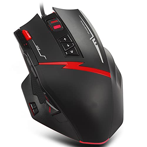 AERJMA Wired Gaming Mouse, Ergonomic Mouse 16-Key Programmable Buttons 7000 DPI Gaming Mice