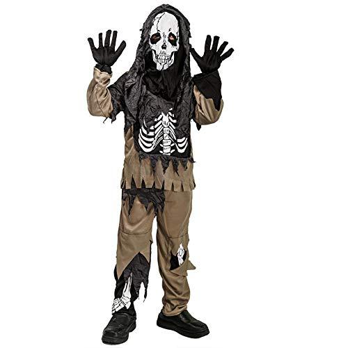 ZHDP Disfraces de Zombie de Miedo para niños Halloween Cosplay Esqueleto Fiesta de Terror Carnaval Cráneo Ropa Fancy Boys Masquerade Outfits-Zombie_L (10-12Y)