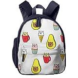 Kinderrucksack Katzeneis Kaffee Babyrucksack Süßer Schultasche für Kinder 2-5 Jahre