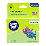 Glue Dots Double-Sided Mini Dots, 3/16'', Clear, Pack of 600 (32634)