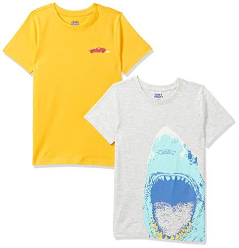 Amazon Brand - Jam & Honey Boy's Regular T-Shirt (AW20BTS-HS-PO2_Multicolor 6 2-3 Years)