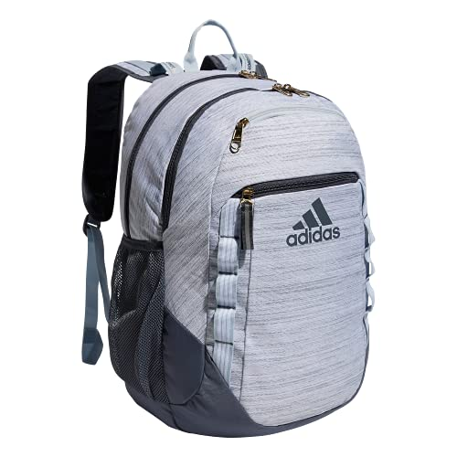 adidas Excel 6 Backpack, Two Tone White/Onix Grey/Halo Blue, One Size