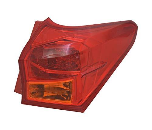 V-maxzone Vt1124p droite Queue de feu arrière Rouge