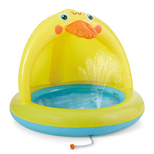 XFlated Shade Baby Pool, Sprinkle and Splash Play Pool, Outdoor Duck Bathtub of 39 Inches
