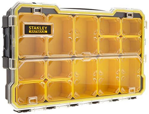 Stanley FatMax Profi-Organizer 2/3 / Zubehörbox (zum Verstauen und Transportieren von Kleinteilen und Zubehör, transparent, kratz-und schlagfest, stapelbar durch Seitenverriegelungssystem) FMST1-75779