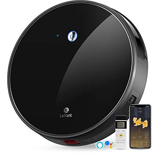 LEFANT Staubsauger Roboter mit Freibewegung, WiFi-Steuerung Saugroboter Staubsauger, Kompatibel mit Alexa und Google, Selbstaufladung, Super Leise, Saugroboter Ideal für Haustierhaare, M520