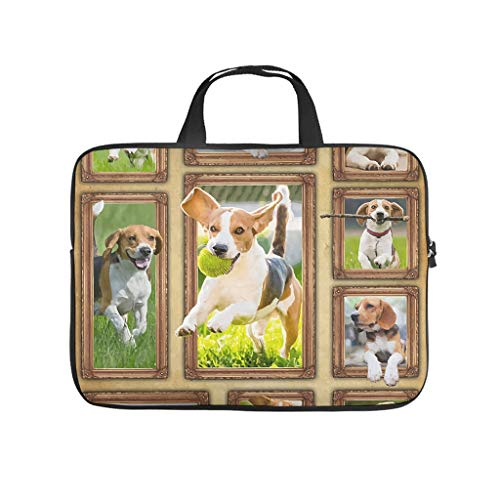 XINGYUE Beagle Dog Animals Laptop Sleeve Cool Pattern Laptop Computer Sleeve Anti-Scratch Polyester Notebook Cover for College Students White 17inch