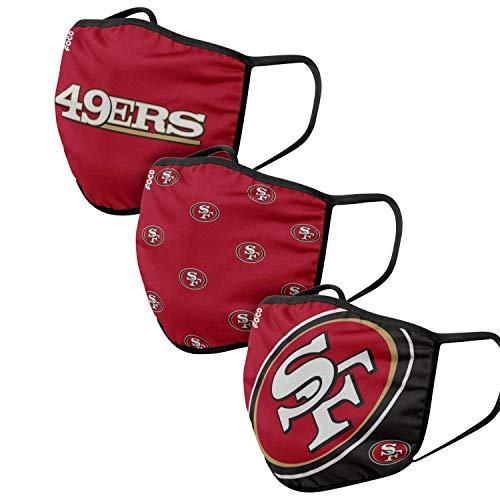 NFL Team 3-Pack Gesichtsabdeckung, San Francisco 49ers