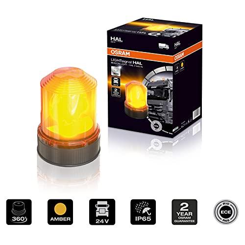 OSRAM LIGHTsignal HALOGEN BEACON LIGHT, baliza giratoria, 360 °, luz intermitente aber, luz de advertencia legal en la calle para camiones y vehículos comerciales con fijación de 3 pernos