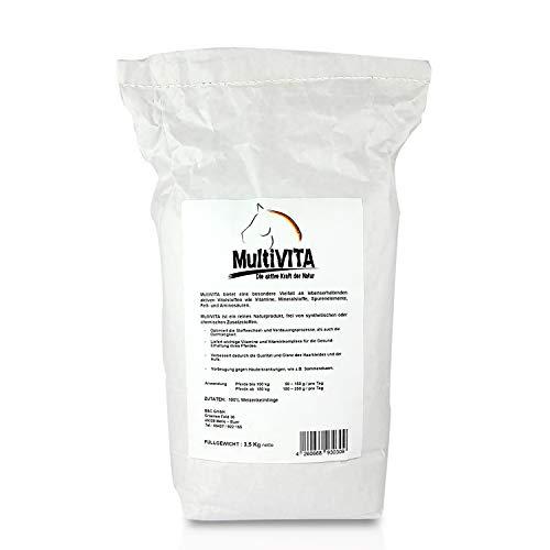 MultiVITA - Pferdefutter 3,5 kg Ergänzungsfütterung Mineralfutter mit Vitalstoffen für Pferde 100% natürlich