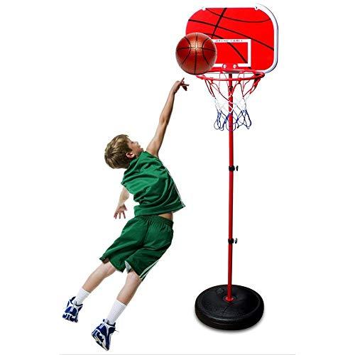 Turtle Story Sistema de red de aro de baloncesto portátil de 1,7 m, altura ajustable, aro de baloncesto con soporte para interiores y exteriores, para niños, juguete de regalo de cumpleaños JXNB