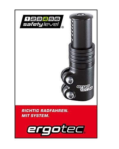 P4B | Ahead - Adapter für 1 1/8 Ahead-Vorbauten in Schwarz/Glanz | Safety-Level 4 | Inkl. 5 Spacer | Ergotec Ahead 3 Vorbau-Adapter für Fahrrad und E-Bike